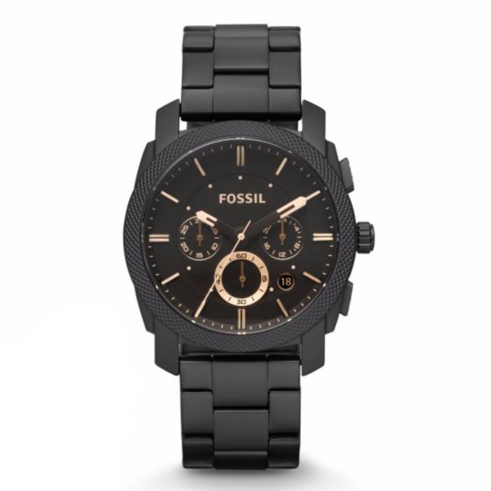 SKU-33169 / FOSSIL Machine Chronograph Black Stainless Steel Bracelet