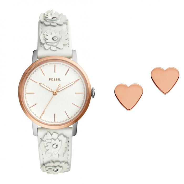 SKU-33178 / FOSSIL Neely White Leather Strap Gift Set