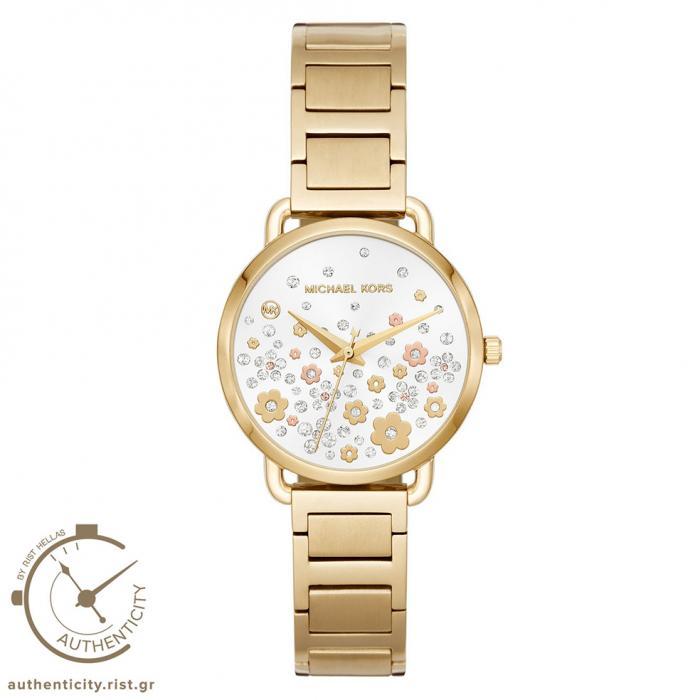 SKU-33921 / MICHAEL KORS Crystals Gold Stainless Steel Bracelet