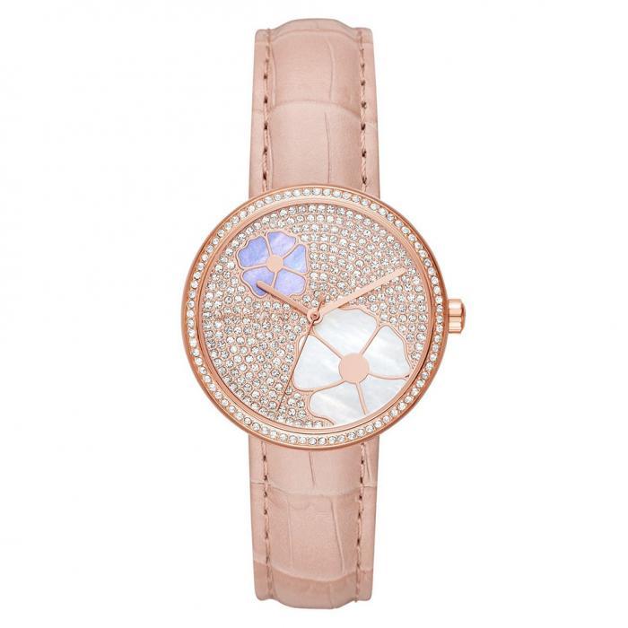SKU-33792 / MICHAEL KORS Crystals Pink Leather Strap