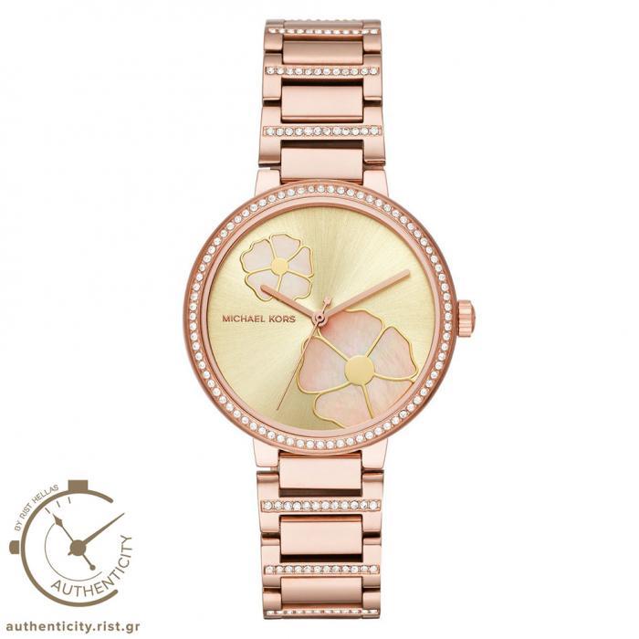 SKU-33796 / MICHAEL KORS Crystals Rose Gold Stainless Steel Bracelet