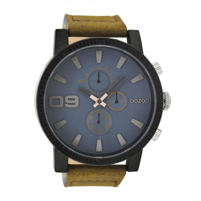 SKU-33966 / OOZOO Timepieces Brown Leather Strap