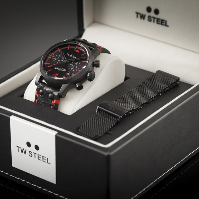 SKU-33980 / TW STEEL Son Of Time Desperado Special Edition Chronograph Black Leather Strap