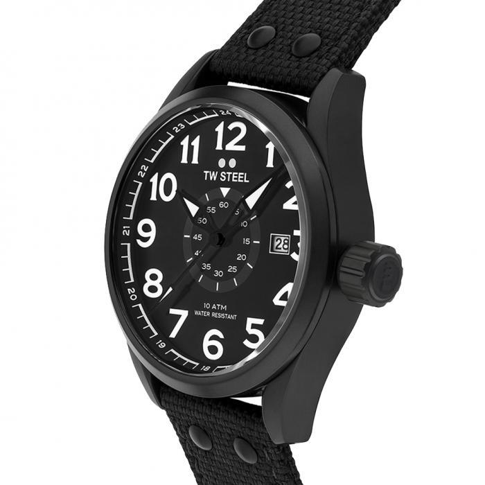 SKU-33934 / TW STEEL Volante Black Textile Strap