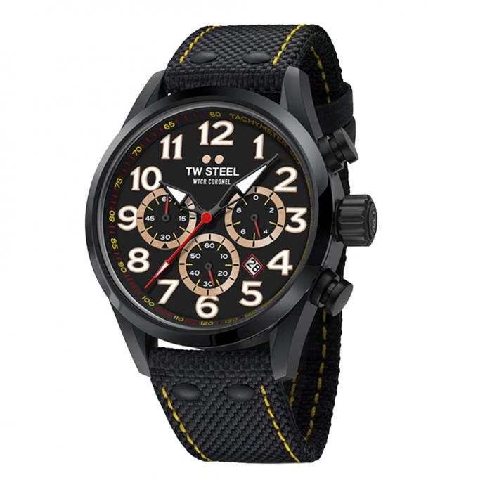 SKU-33936 / TW STEEL WTCR Coronel Special Edition Chronograph Black Textile Strap