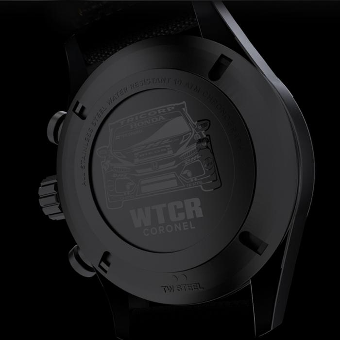 SKU-33936 / TW STEEL WTCR Coronel Special Edition Chronograph Black Textile Strap