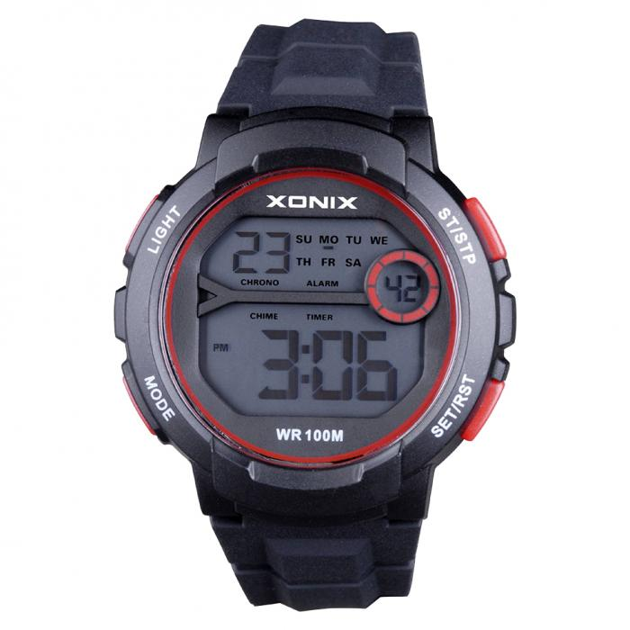 SKU-33667 / XONIX Chronograph Black Silicone Strap