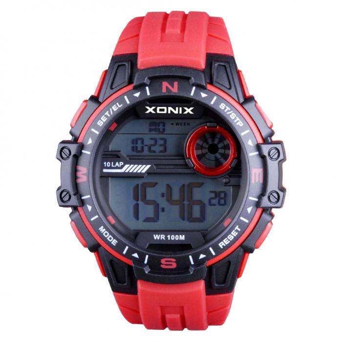 SKU-33677 / XONIX Chronograph Red Silicone Strap