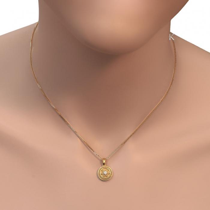 Μενταγιόν Χρυσός Κ18 με Διαμάντι
