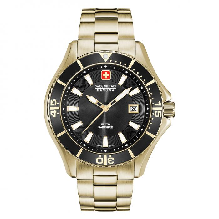 SKU-34900 / SWISS MILITARY HANOWA Nautila Gold Stainless Steel Bracelet