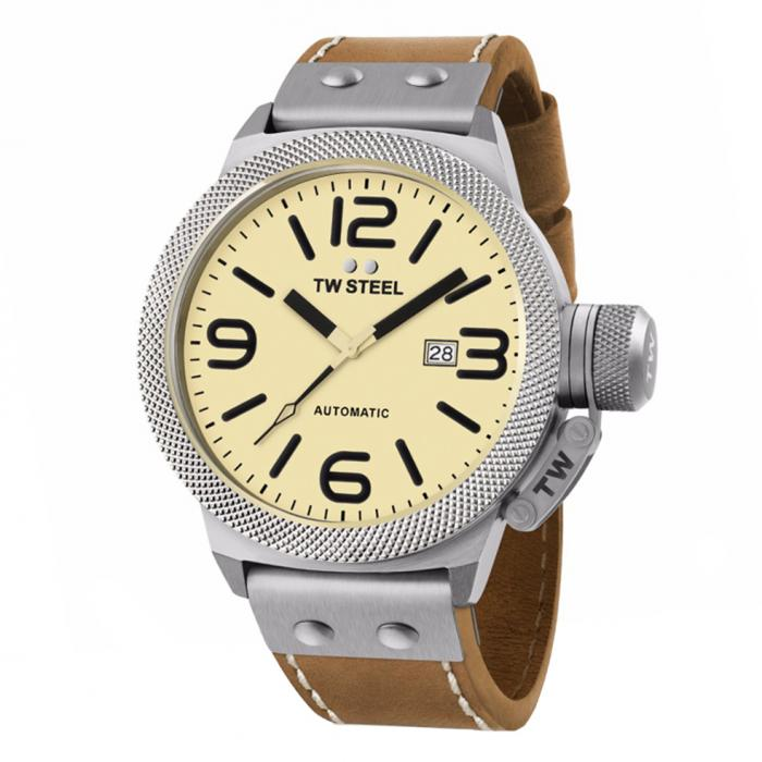 SKU-34224 / TW STEEL Canteen Automatic Brown Leather Strap