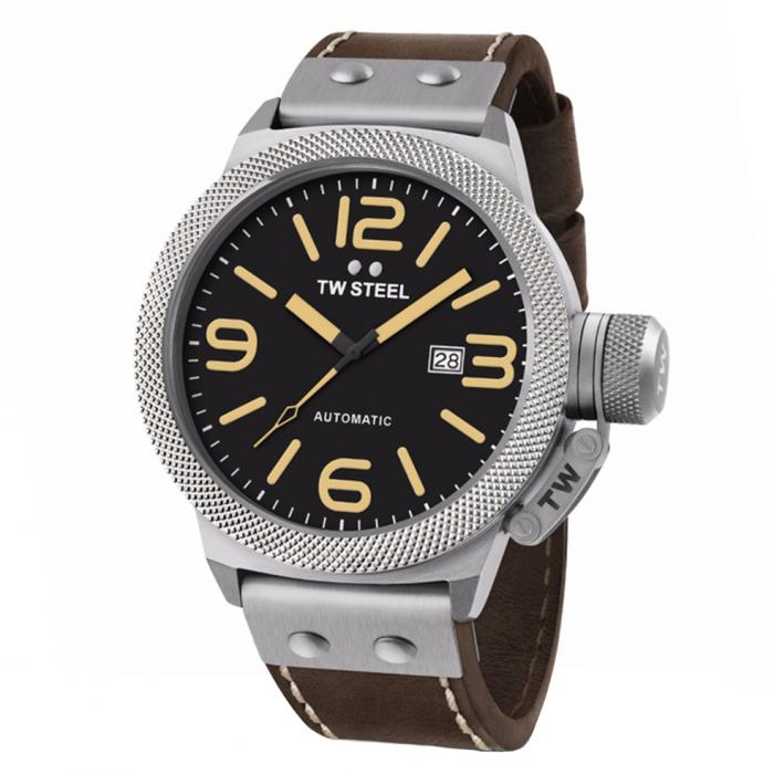 SKU-34301 / TW STEEL Canteen Automatic Brown Leather Strap