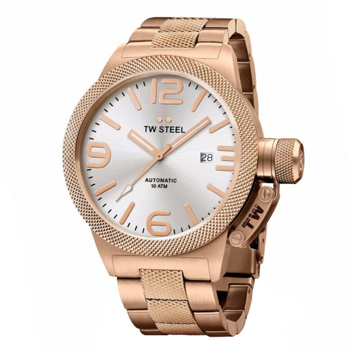 SKU-34225 / TW STEEL Canteen Automatic Rose Gold Stainless Steel Bracelet