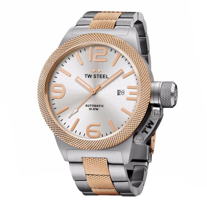 SKU-34229 / TW STEEL Canteen Automatic Two Tone Stainless Steel Bracelet