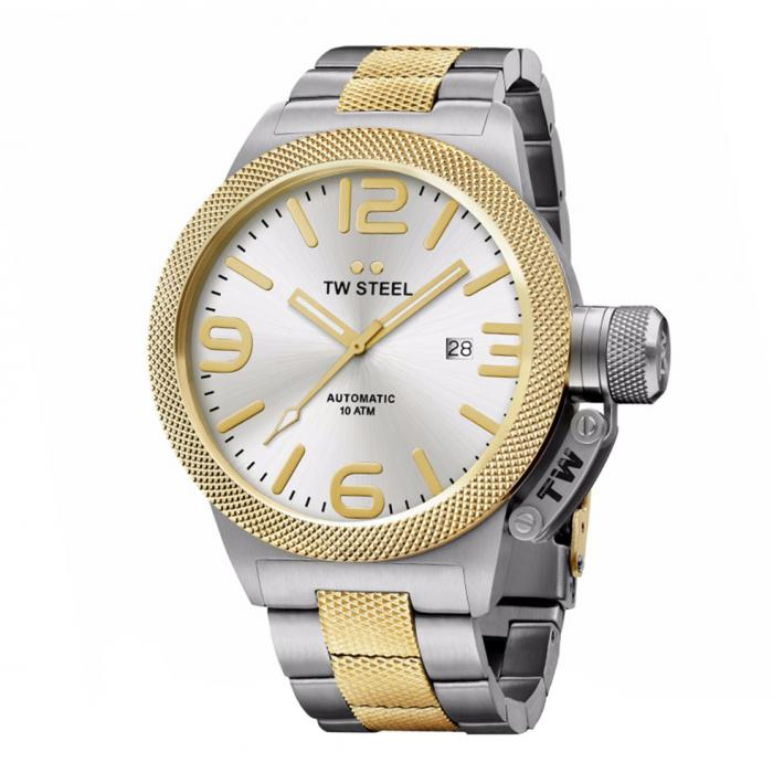SKU-34240 / TW STEEL Canteen Automatic Two Tone Stainless Steel Bracelet