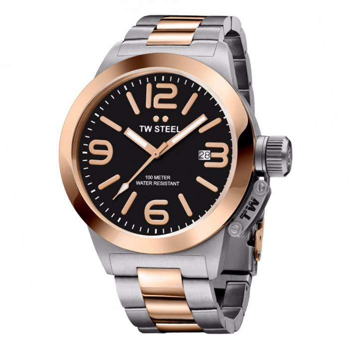 SKU-34261 / TW STEEL Canteen Chronograph Two Tone Stainless Steel Bracelet