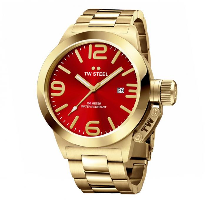 SKU-34230 / TW STEEL Canteen Gold Stainless Steel Bracelet