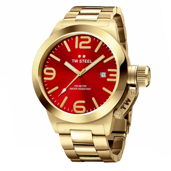 SKU-34231 / TW STEEL Canteen Gold Stainless Steel Bracelet