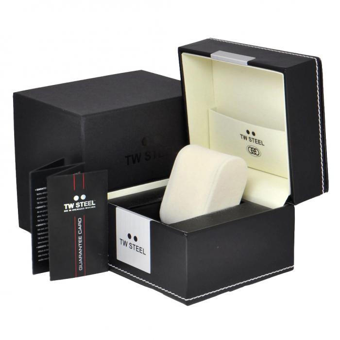 SKU-34328 / TW STEEL Grandeur Tech Special Edition Black Silicone Strap