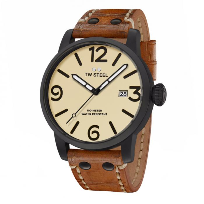 SKU-34241 / TW STEEL Maverick Brown Leather Strap