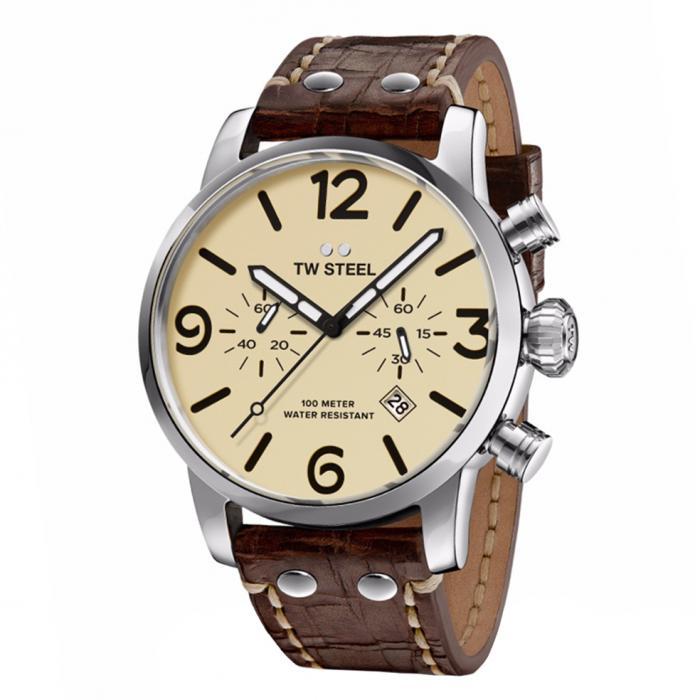 SKU-34255 / TW STEEL Maverick Chronograph Brown Leather Strap