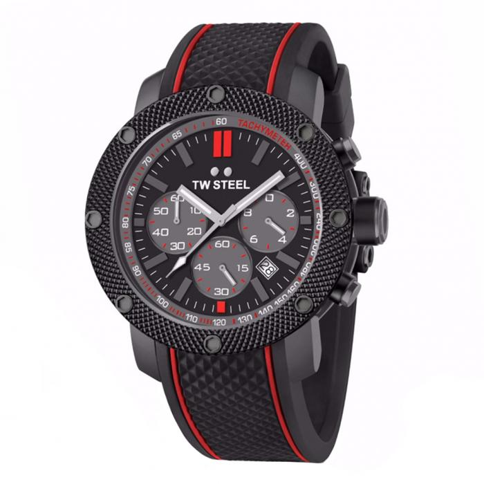 SKU-34219 / TW STEEL Mick Doohan Tech Special Edition Black Rubber Strap