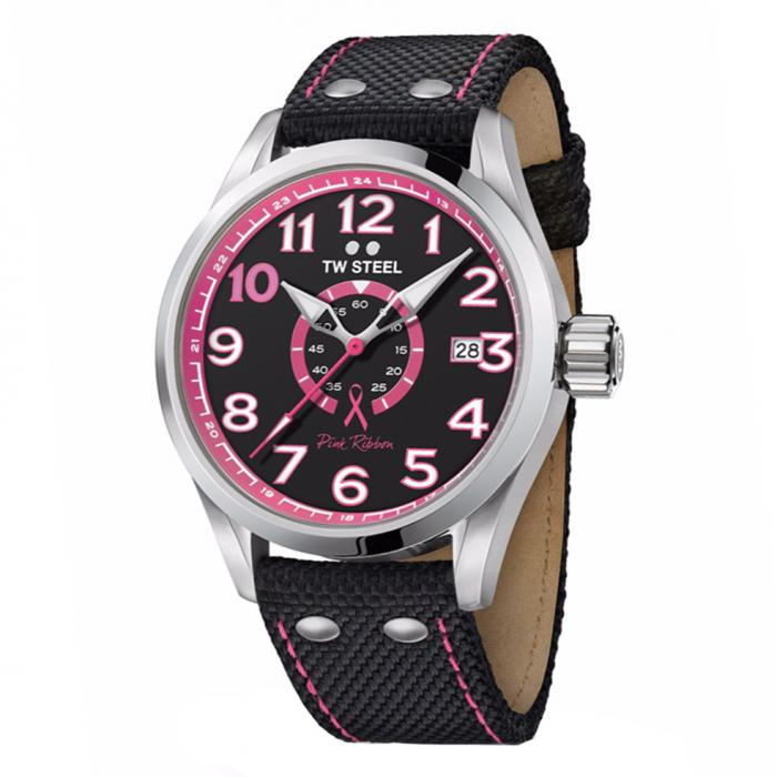 SKU-34158 / TW STEEL Pink Ribbon Special Edition Strap
