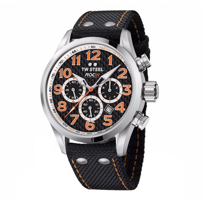 SKU-34100 / TW STEEL Race of Champions Chronograph Black Strap