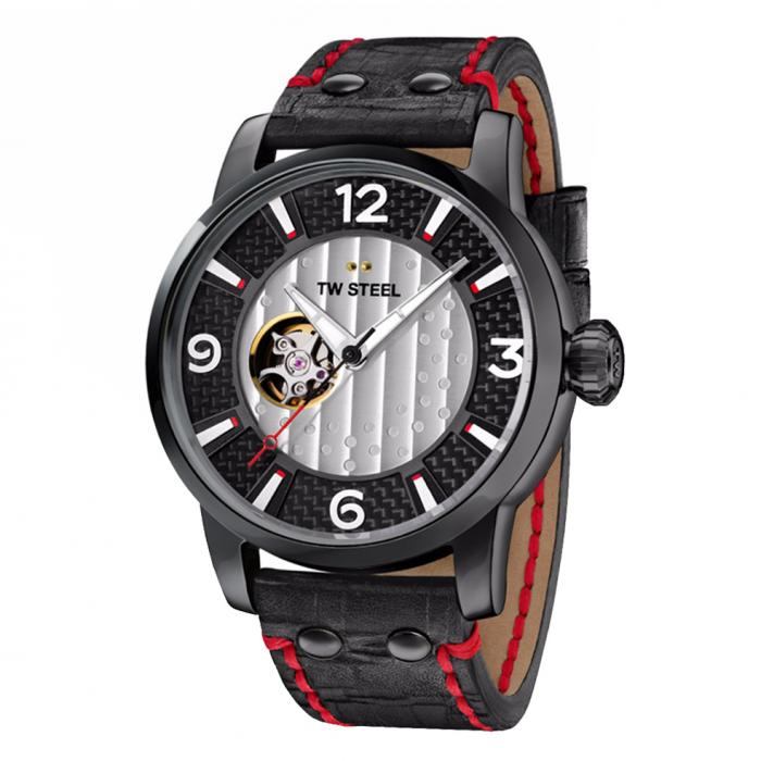 SKU-34105 / TW STEEL Son Of Time Limited Edition Automatic Black Leather Strap