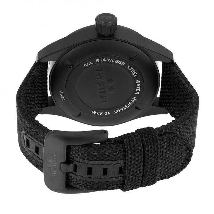 SKU-34153 / TW STEEL Volante Black Textile Strap