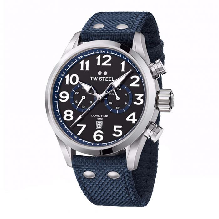 SKU-34171 / TW STEEL Volante Blue Textile Strap