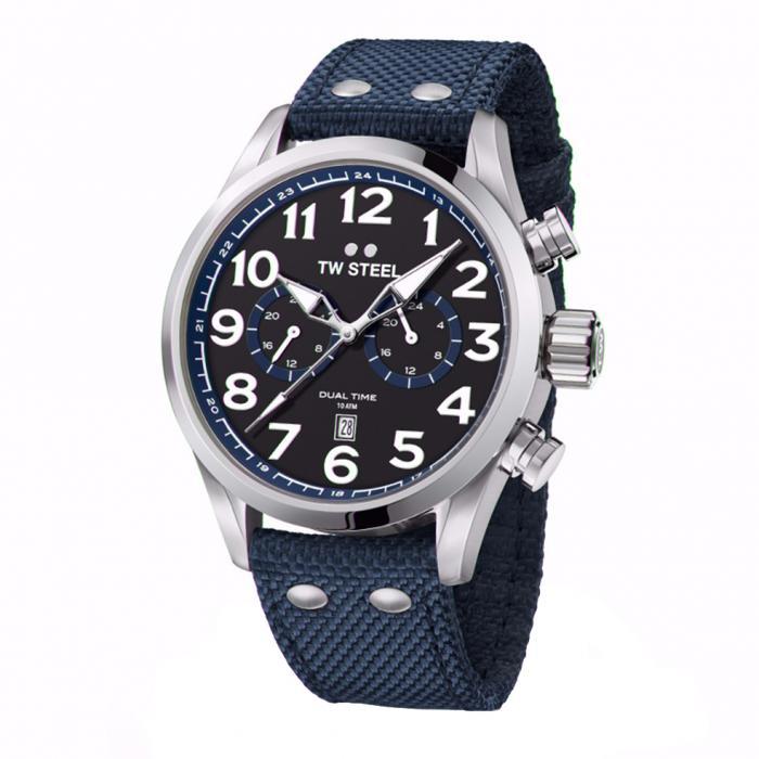 SKU-34172 / TW STEEL Volante Blue Textile Strap