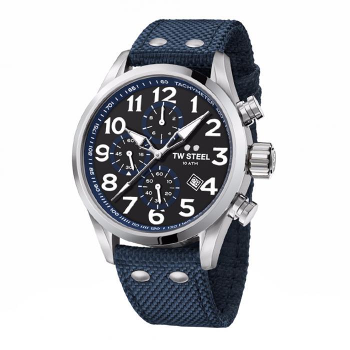 SKU-34173 / TW STEEL Volante Chronograph Blue Textile Strap