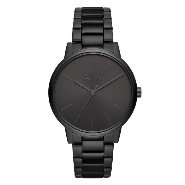 SKU-35529 / ARMANI EXCHANGE Black Stainless Steel Bracelet