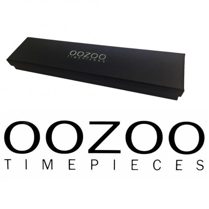 SKU-35167 / OOZOO Timepieces Wood Brown Leather Strap