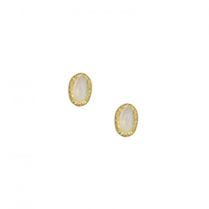 SKU-35406 / Σκουλαρίκια Ασήμι 925° με Φεγγαρόπετρα