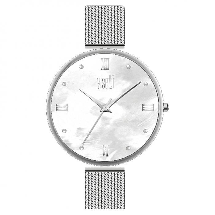 SKU-35692 / VISETTI Harmony Crystals Silver Stainless Steel Bracelet