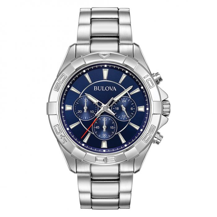 SKU-36676 / BULOVA Chronograph Silver Stainless Steel Bracelet