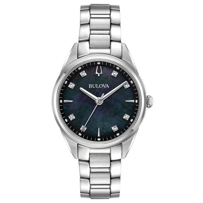SKU-36677 / BULOVA Diamonds Silver Stainless Steel Bracelet