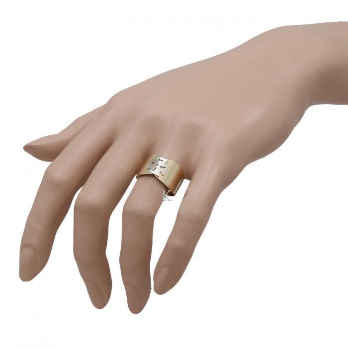 Δαχτυλίδι Λευκόχρυσος & Χρυσός Κ14