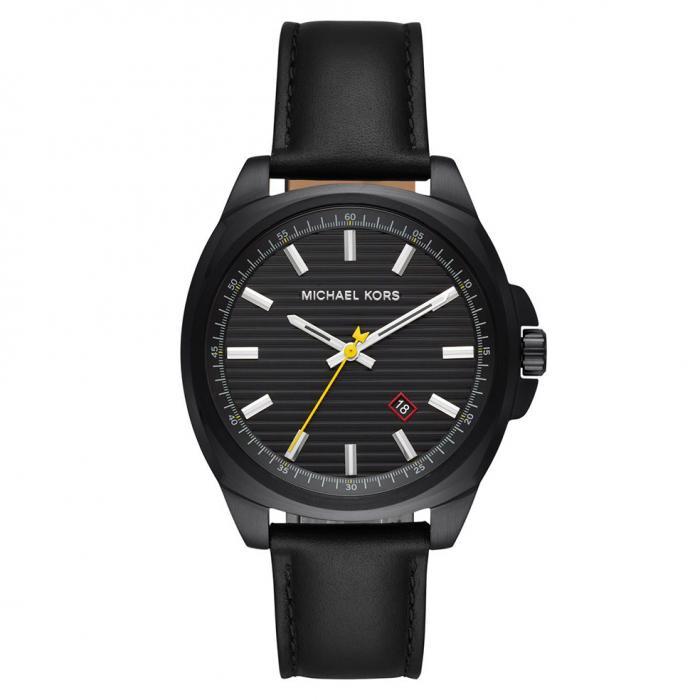 SKU-36604 / MICHAEL KORS Bryson Black Leather Strap