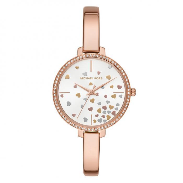 SKU-36571 / MICHAEL KORS Jaryn Crystals Rose Gold Stainless Steel Bracelet