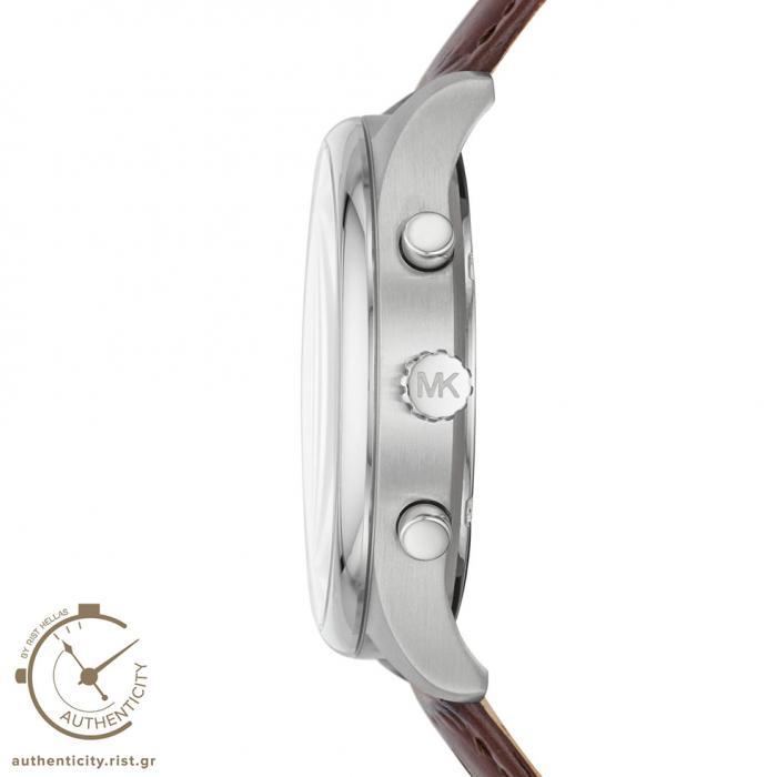 SKU-36561 / MICHAEL KORS Merrick Chronograph Βrown Leather Strap
