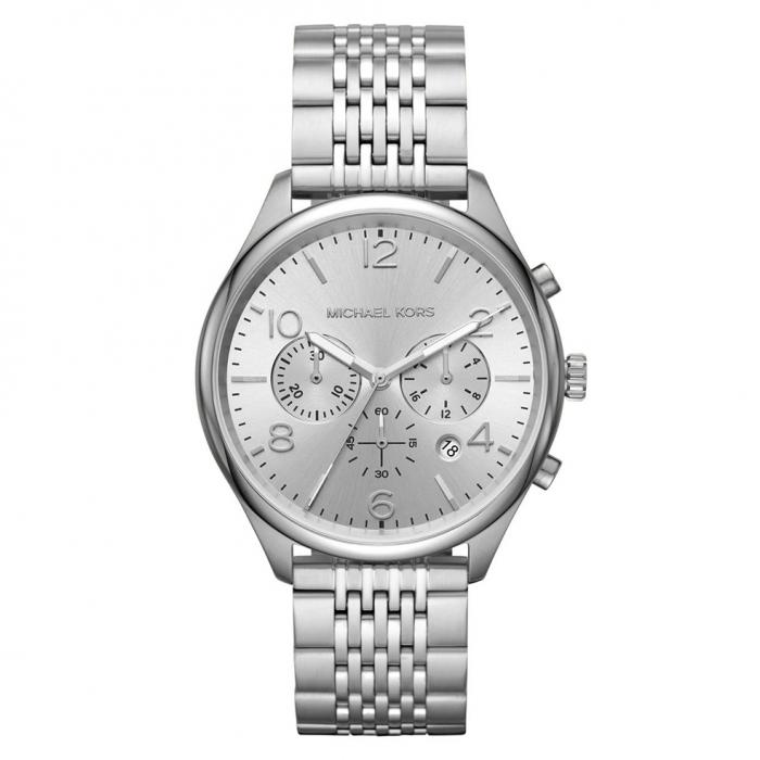 SKU-36825 / MICHAEL KORS Merrick Chronograph Silver Stainless Steel Bracelet