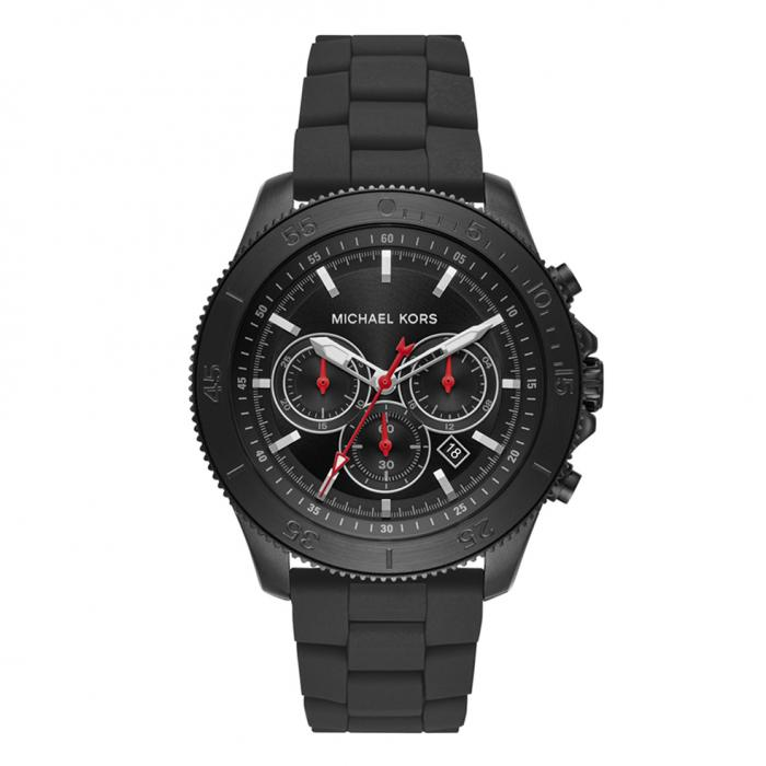 SKU-36541 / MICHAEL KORS Theroux Chronograph Black Stainless Steel Bracelet