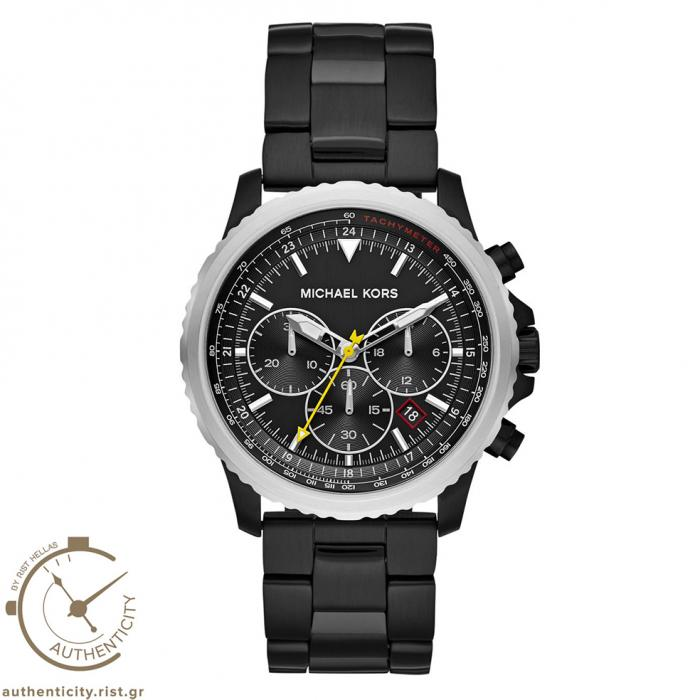 SKU-36820 / MICHAEL KORS Theroux Chronograph Black Stainless Steel Bracelet