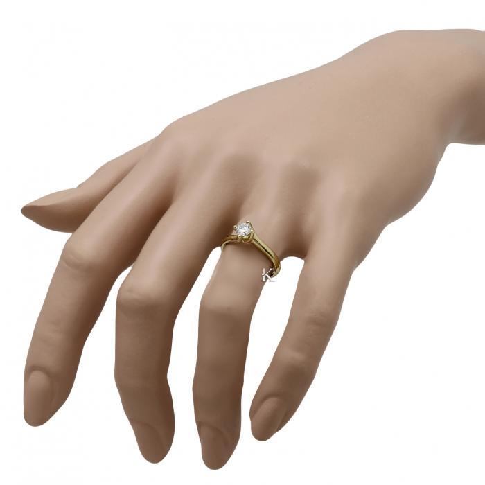 Μονόπετρο Δαχτυλίδι Χρυσός Κ18 με Διαμάντι