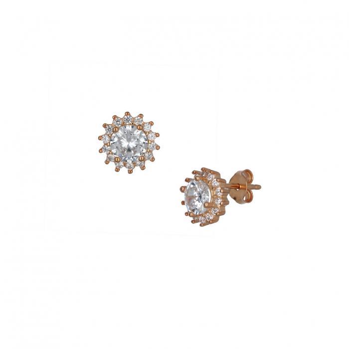 SKU-36901 / Σκουλαρίκια Ασήμι 925° με Ζιργκόν