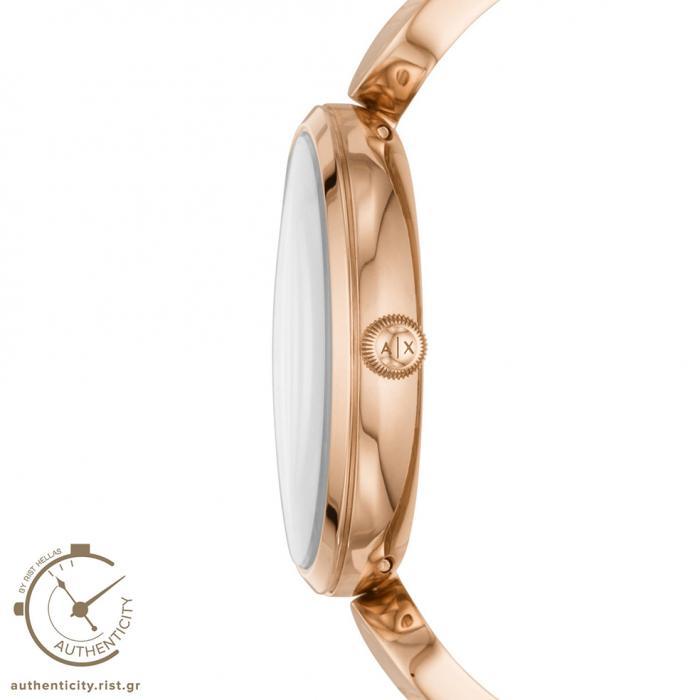 ARMANI EXCHANGE Brooke Rose Gold Stainless Steel Bracelet