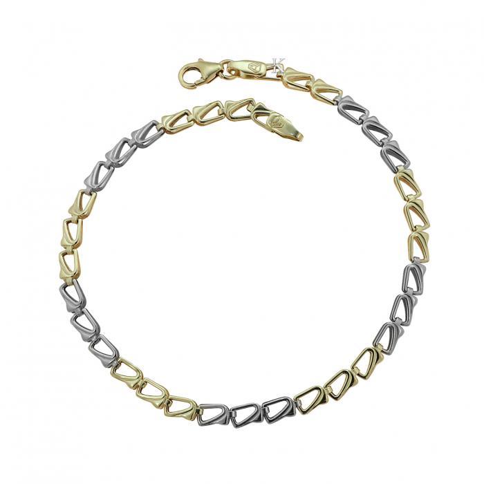 SKU-37245 / Βραχιόλι Χρυσός & Λευκόχρυσος Κ9